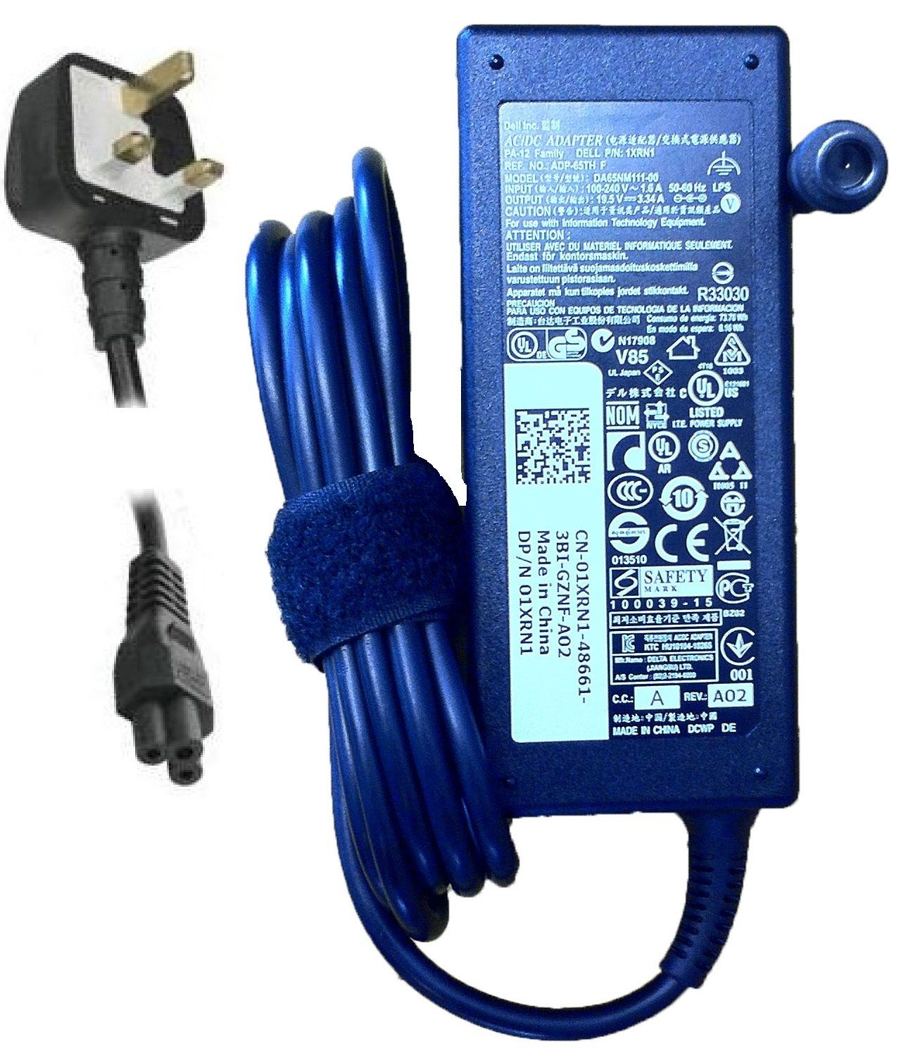 Original DELL AC Charger for A065R073L ADP-65TH F PA-1650-02D3 PA-1650-02Dc