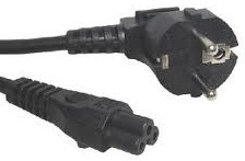 Clover 3 pin power cable Euro 2 pin plug